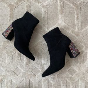 Kassie Suede booties by Betsey Johnson